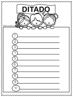 Folhas para ditado Elementary Spanish, Elementary Schools, School Resources, Teacher Resources, Spanish Classroom Activities, English Resources, Math Worksheets, Interactive Notebooks, Writing Prompts