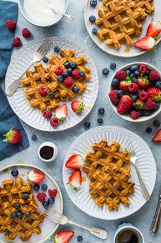 Sweet potato waffles - make your waffles healthier by adding sweet potato! These delicious waffles are light and crispy with a lightly spiced sweet flavour and the added benefits of sweet potatoes and wholemeal flour. #breakfast #brunch #waffles