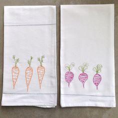 Time to harvest some flour sack tea towels thread by LeosDryGoods