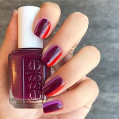 Recreate this simple essie ombre nail art look without a sponge using three nail polish colors. (Want more nail art ideas? Visit http://www.essie.com/essie-looks.aspx)!