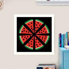 """Watermelon Slices"" Art Print by Pultzar   Redbubble"