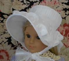 American Girl Doll Clothes - Doll Hat - Caroline's 1812 Dress Bonnet - Regency Period. $40.00, via Etsy.