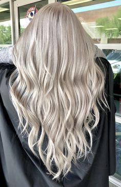 Platinum blonde, icy blonde hair by - All For Hair Color Balayage Silver Blonde Hair, Blonde Hair Looks, Honey Blonde Hair, Blonde Hair With Highlights, Icy Blonde, Balayage Hair Blonde, Platinum Blonde Hair, Ombre Hair, Blonde Hair Colour