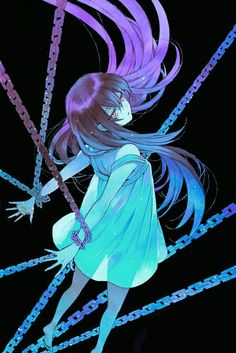 Chains... Chains...  They were everywhere. Surrounding her from every corner; engulfing her and trapping her soul within. She couldn't break free. The more she struggled the more she felt suffocated. She cried for help, but everyone ignored her, so she died alone. In chains... Picture: Alice from Pandora Hearts