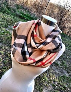 if you can find this pattern of material - i love the colors. Burberry Plaid Scarf Pashmina Infinity Scarves