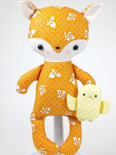 Fox Baby PDF Doll Pattern. $11.00, via Etsy.