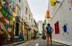 Life is full of colour! You just have to look for it.  Haji Lane, Singapore