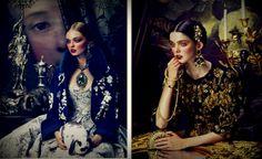 A revista How To Spend It Magazine traz toda opulência do estilo Barroco Chic, que estará em alta na próxima estação  Divinamente ornamentadas, elas usam peças das grifes Balmain, Dolce & Gabbana, Lanvin.
