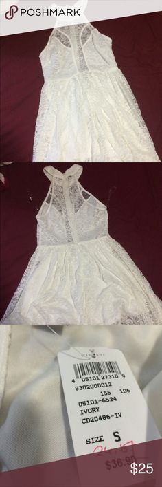 White Lace Windsor Dress Never been worn!!! Original price $36.90. Only asking $25! If you have any questions, please just let me know! WINDSOR Dresses Mini