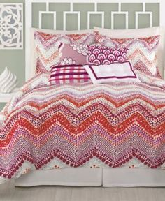 Trina Turk Bedding, Chevron Dots King Duvet Cover Set Bedding