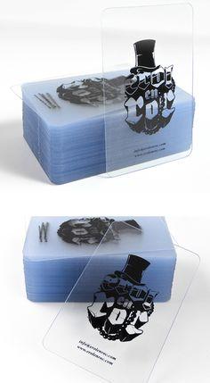 Creative Illustrative Clear Plastic Business Card Design