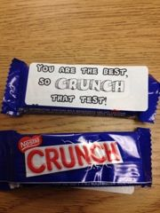 Testing Treat-Crunch - Great for when MAP testing comes around