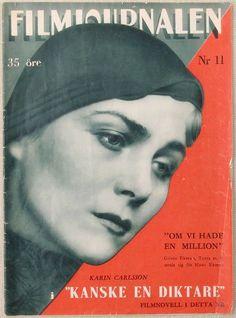 1933 Swedish FILMJOURNALEN Magazine-Karin Carlsson Cvr : Lot 253