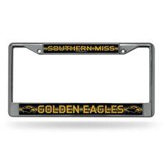 Southern Miss Golden Eagles Bling Chrome License Plate Frame
