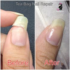 another quick way to repair a broken nail w/tea bag
