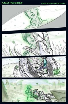 Paradise (Spoilers) by carrinth on DeviantArt Mass Effect Garrus, Mass Effect Art, Pillars Of Eternity, Sea Of Stars, Star Force, Commander Shepard, Critical Role Fan Art, To Infinity And Beyond, Starcraft