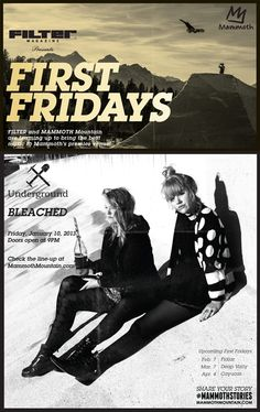 Will you be watching Bleached in Mammoth for our kick-off First Fridays show?