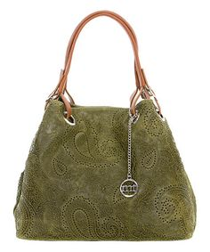 Look what I found on #zulily! Verde Olivia Leather Hexagon Hobo #zulilyfinds