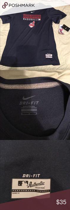 Cleveland Indians Nike dri-fit shirt. Brand new with tags, size medium Cleveland Indians dri-fit brand t-shirt. Nike brand. Nike MLB Shirts Tees - Short Sleeve