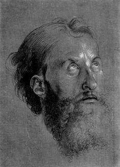 Studie zum »Heller-Altar«- Kopf eines Apostels. Albrecht Durer