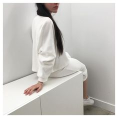 white on white minimalist outfit via instagram @ oakandfort  — if you admire this aesthetic explore our parcels of elevated essentials and minimalist gifts @ minimalism.co