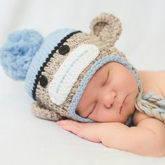 Look at this Melondipity Powder Blue Sock Monkey Prop Hat on today! Newborn Crochet, Crochet Baby Hats, Sock Monkey Hat, Baby Boy Hats, Baby Boys, Boys Socks, Brown Babies, Thing 1, Animal Hats