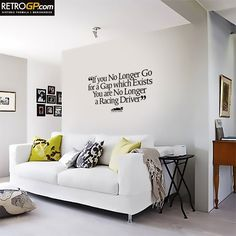 One of the most famous F1 quotes of all time. Uttered by Ayrton Senna in 1990 and now immortalised as a wall graphic for your home.