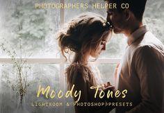 Moody Tones Wedding Lightroom Presets & Photoshop Filters Dramatic, Dark Film Style for Modern Photographers