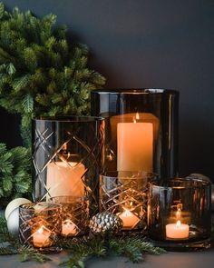 Christmas Plants, Real Christmas Tree, Nordic Christmas, Christmas Coffee, Christmas Home, Candle Lanterns, Candles, Candle Arrangements, New Years Eve Weddings