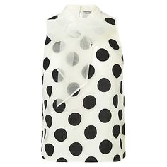 Buy Coast Lorelly Organza Spot Blouse, Mono Online at johnlewis.com