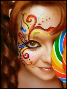 Beautiful Face Art Work; art work, beautiful face, face art work, face painting