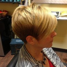 Grandmas can have awesome hair too!! #hair #haircut #hairstyle #hairstylist #blonde #redken #shorthair #shorthaircut #shorthairstyle #bangstyle #shorthairphotos #texture #style #fashion #thisismyart