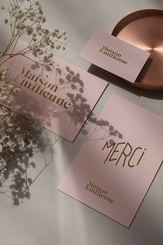 Maison Emilienne brand identity by Alexia Roux Maison Emilienne brand identity by Alexia Roux This image has get. Logo Branding, Graphic Design Branding, Identity Design, Brand Identity, Visual Identity, Brochure Design, Design Logo, Fashion Logo Design, Branding Ideas