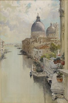 """Francis Hopkinson Smith """"Over a Balcony,"""" View of the Grand Canal, Venice · 1897 watercolor on paper The Walters Art Museum · Grand Canal Venice, Venice Painting, Art Watercolor, Venice Italy, Art Boards, Art History, Art Museum, Scenery, Illustrations"""