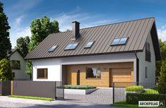 Projekty domów ARCHIPELAG - E6 G1 ECONOMIC (wersja A)
