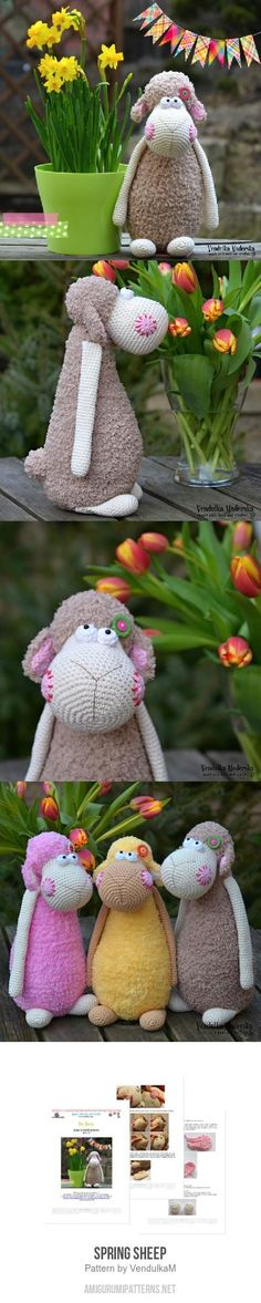 Spring sheep amigurumi pattern