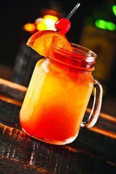The Caribbean Sunset Cocktail:  3/4 oz Malibu® coconut rum  3/4 oz melon liqueur  2 oz cranberry juice  orange juice