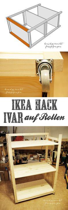 IKEA Hack - IVAR auf Rollen; IVAR goes mobile with casters - rolling Ivar DIY Instructions