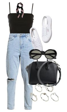 """Untitled #5091"" by olivia-mr ❤ liked on Polyvore featuring Topshop, Givenchy, Superga, Yves Saint Laurent and ASOS"