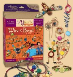 Enter to win the Wire & Bead Art Kit Giveaway! We are giving away one (1) kit to one (1) winner. The deadline to enter is December 29th, 2014, at 11:59:59 p.m. Eastern Time.  If you have loved the other whimsical and eco-friendly crafting kits we've reviewed from Hazelnut Kits, you're sure to love this one, too!  High-quality materials meet endless inspiration with this Wire & Bead Art Kit.