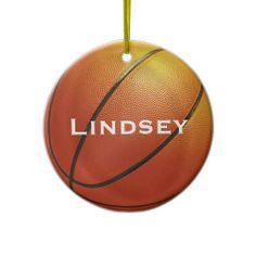 Basketball Custom Name Ornament