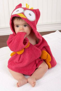My Little Night Owl Hooded Terry Spa Robe