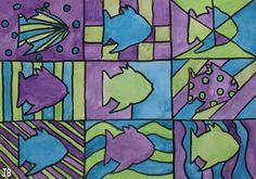 New easy art projects elementary shape Ideas Artists For Kids, Art For Kids, Art 2nd Grade, Classe D'art, Drawing Sheet, Easy Art Projects, Ocean Projects, Animal Projects, Art Lessons Elementary