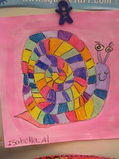 Jamestown Elementary Art Blog: 1st grade; lines, spirals