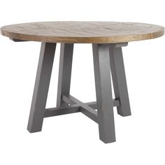 Iona Round Dining Table, Pine from Made.com. Light Wood/Grey. NEW Express delivery. Bring the family together with this one-of-a-kind table. Made fr..