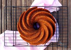 burnt sugar bundt cake with rum and apple