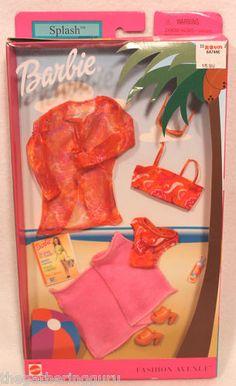 New Fashion Avenue Barbie Splash Fashion Doll Clothes Swimsuit Mattel 2002 | eBay