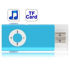Baby+Blue+TF+(Micro+SD)+Card+Slot+MP3+Player+with+Clip