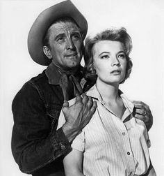 "Kirk Douglas, Gena Rowlands on set, ""Lonely are the Brave"""