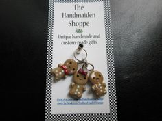 Gingerbread Cookies Clay Charm via Etsy